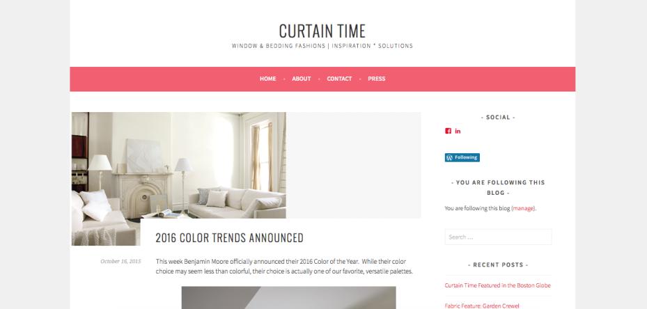 Curtain Time Blog