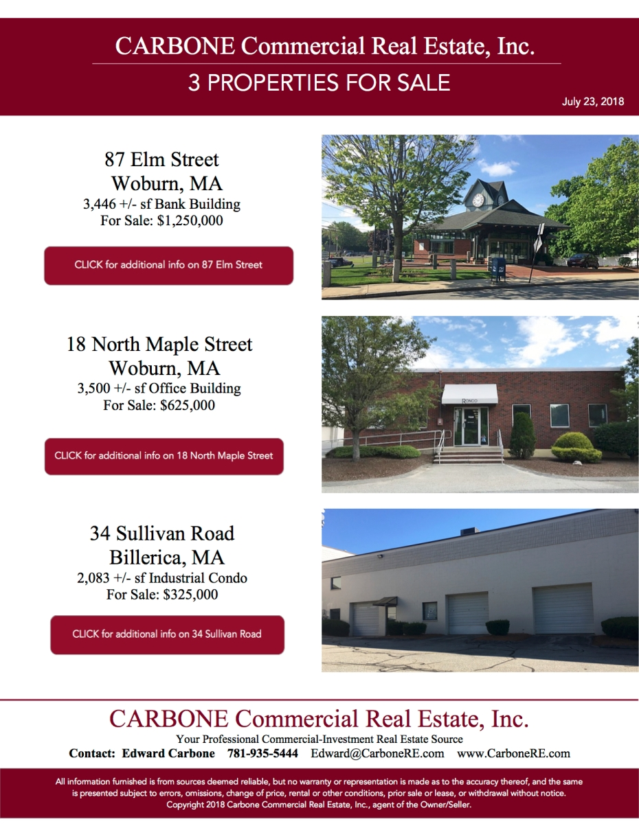 3 Buildings For Sale_CCRE July 2018_single page
