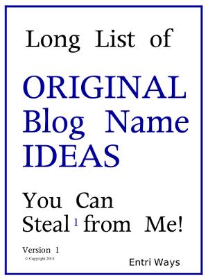 Blog Name Ideas 300x